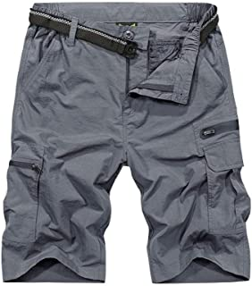 Men's Outdoor Tactical Shorts Lightweight Expandable Waist Cargo Shorts with Multi Pockets Quick Dry Water Resistant #6222