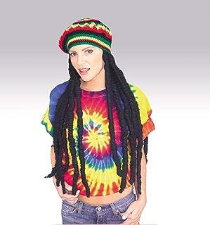 Adult Rasta Dreadlocks Costume Wig with Tam Hat