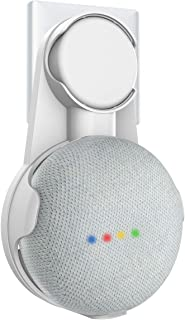 SPORTLINK Outlet Wall Mount Stand Hanger [AUS Plug] Compatible with Google Home Mini / Nest Mini Voice Assistants, Compact Holder Case Plug in Kitchen Bathroom Bedroom, Hides The Google Home Mini Cord (White)