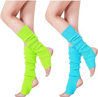 V28 Women's Neon Knit Leg Warmer for 80s Party Dance Sports Yoga,