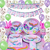 WERNNSAI Mermaid Party Supplies Kit - Summer Pool Party Decorations for Girls Mermaid Sparkle Birthday Banner...