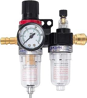 Régulateur d'Air 1/4, otutun Régulateur de Pression l'huile Filtre à air Compresseur Séparateur d'Eau Réducteur de Pressio...