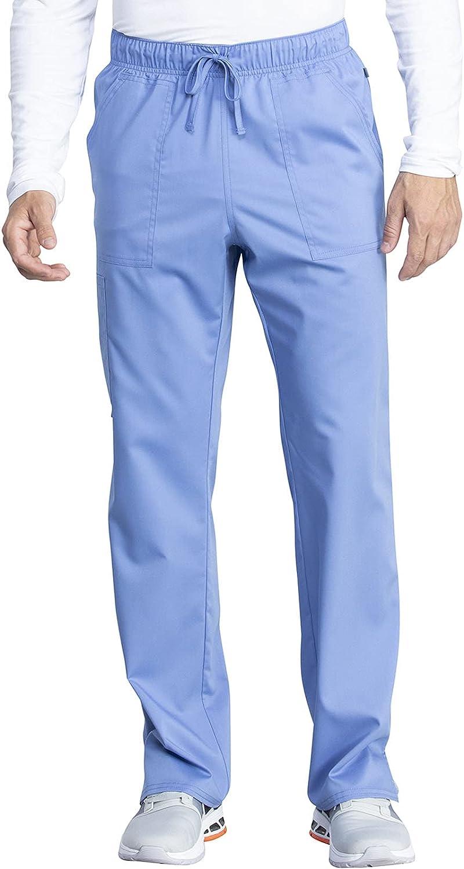 Workwear Revolution Tech Men & Women Scrubs Pant Mid Rise Straight Leg WW042ABT, M Tall, Ciel Blue