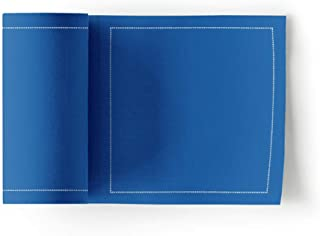 Cotton Cocktail Napkin - 4.3 x 4.3 in - 50 units per roll - Royal Blue