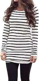 Womens Basic Casual Long Sleeve Slim Fit T Shirt Dress Tunic Top