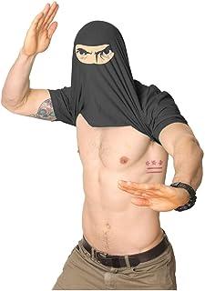 TTTALK Mens Ask Me About My Ninja Disguise Flip Tshirt Funny Karate Costume Samurai Tee(XL) Black