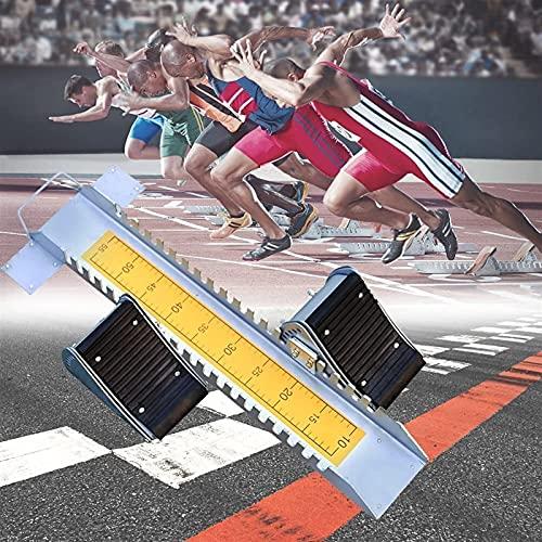 BaiHQF Blocco di Partenza Olympic, Scholastic Track con Pedale Regolabile, Pedale in Gomma, Dimensioni: 70/15/5 cm per la Competizione Scolastica