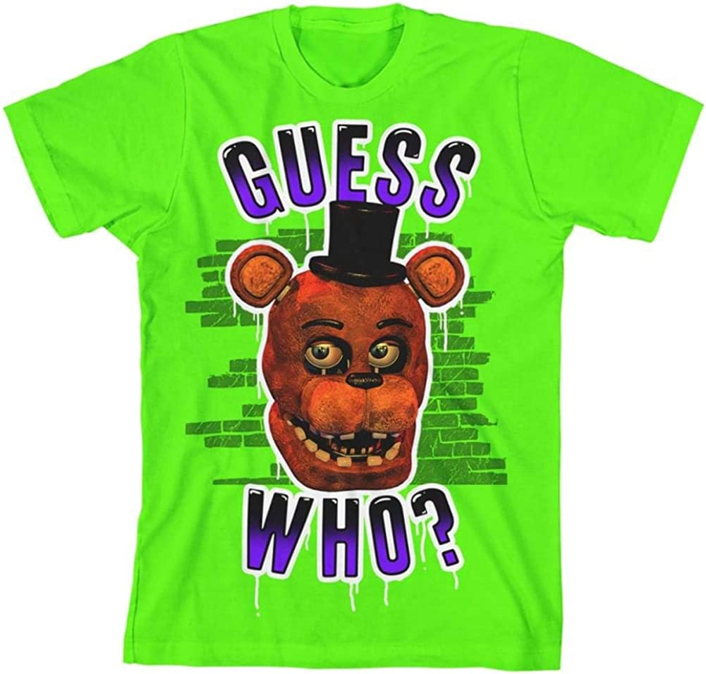 Five Nights at Freddy's Guess Who? Boy's Neon Green T-Shirt