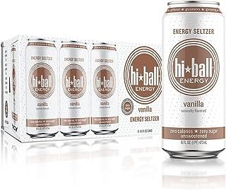 Hiball Energy Vanilla Sparkling Energy Water, Zero Sugar and Zero Calorie Energy Drink, 16 Fluid Ounce Cans, 8 Count