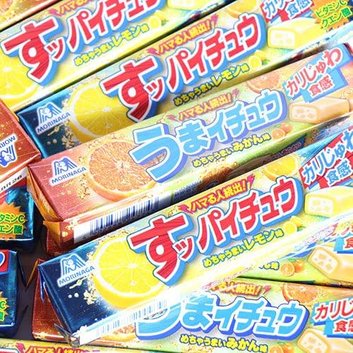 森永製菓のすっぱい系カリじゅわ食感!みかんとレモンの2種ハイチュウセット おかしのマーチ