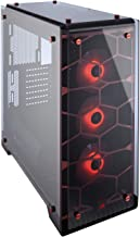 CORSAIR Crystal 570X RGB Mid-Tower Case, 3 RGB Fans, Tempered Glass - Red