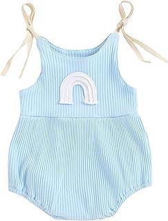 مولود جديد بلا أكمام مضلع رومبير طفل الفتيات يربط جسر قوس نمط عنق على شكل حرف U بلايسوت (Color : Blue, Kid Size : 3M)