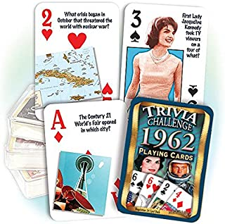 Flickback 1962 Trivia Playing Cards: Great Anniversary or Birthday Gift