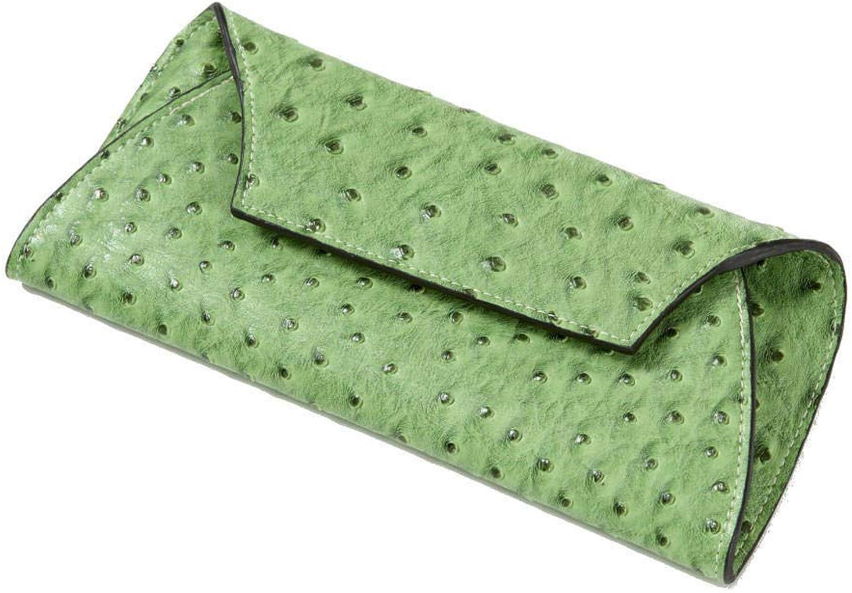 Clava Jemma Faux Ostrich Wallet
