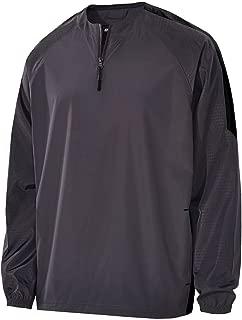 Holloway Sportswear MEN'S BIONIC 1/4 ZIP PULLOVER Men's 2XL Carbon/Black