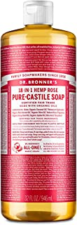 Dr. Bronner's - Pure-Castile Liquid Soap (Rose, 32 ounce) - Made with Organic Oils, 18-in-1 Uses: Face, Body, Hair, Laundr...