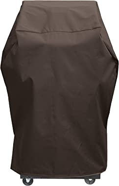 "True Guard Grill Cover Heavy Duty Waterproof - Fits 1-2 Burner Grills, 34"" 600D Rip-Stop, Fade/Stain/UV Resistant, Dark Brown"
