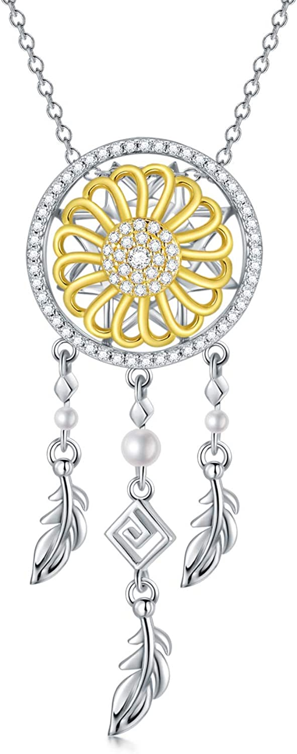SOULMEET Dreamcatcher Pendant Detroit Mall Chain Zirconia Cubic with Necklace Long-awaited
