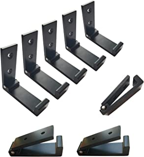 8 Packs Folding Coat Hooks, Ymaiss Adhesive Foldable Hooks,Heavy Duty Single Towel Hook,Wall Mounted Retractable Hooks, Al...