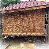 HXSM Estores De Bambú para Terraza Persiana De Bambú Exterior Cortina De Caña Natural Persianas Alicantina para Decoración Interiores 50X80cm