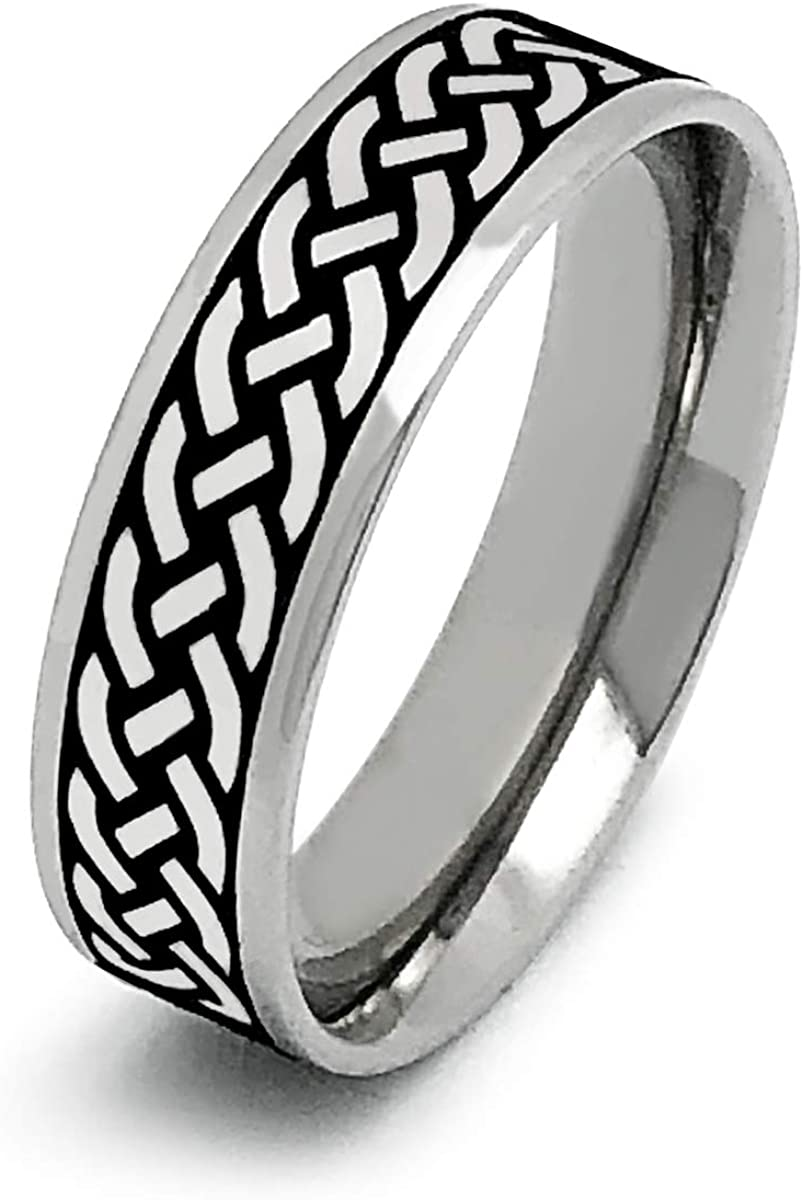 Kriskate Bombing free shipping Co. Irish Celtic Ring Stainless Steel Rapid rise We Personalized