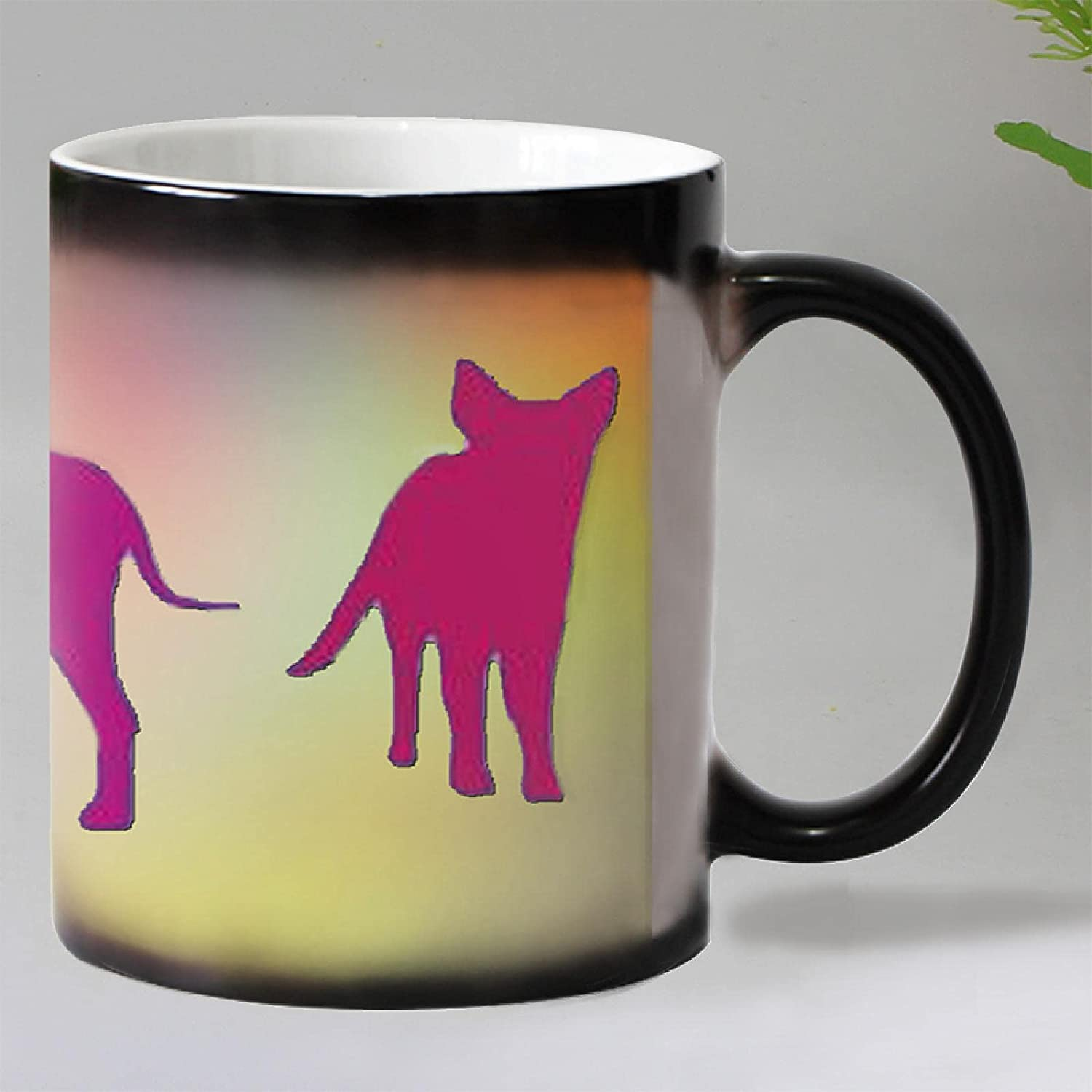 Colorful Cartoon Dog San Francisco Mall Super sale period limited Heat Reveal Changi Ceramic Cup Coffee Color