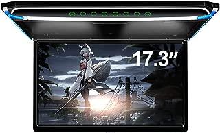 17.3 Car Overhead Monitor 1080P Video HD Digital TFT Screen Wide Screen Ultra-Thin Mounted Car Roof Player HDMI IR FM USB SD NO DVD