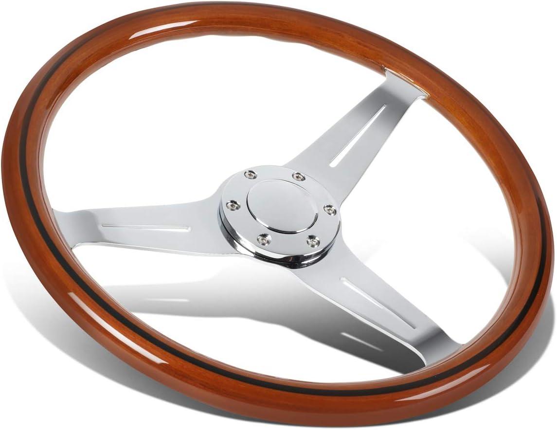 15 Inches Max 74% OFF Wood Grain Grip Vintage Deep Steering 2 D Wheel security