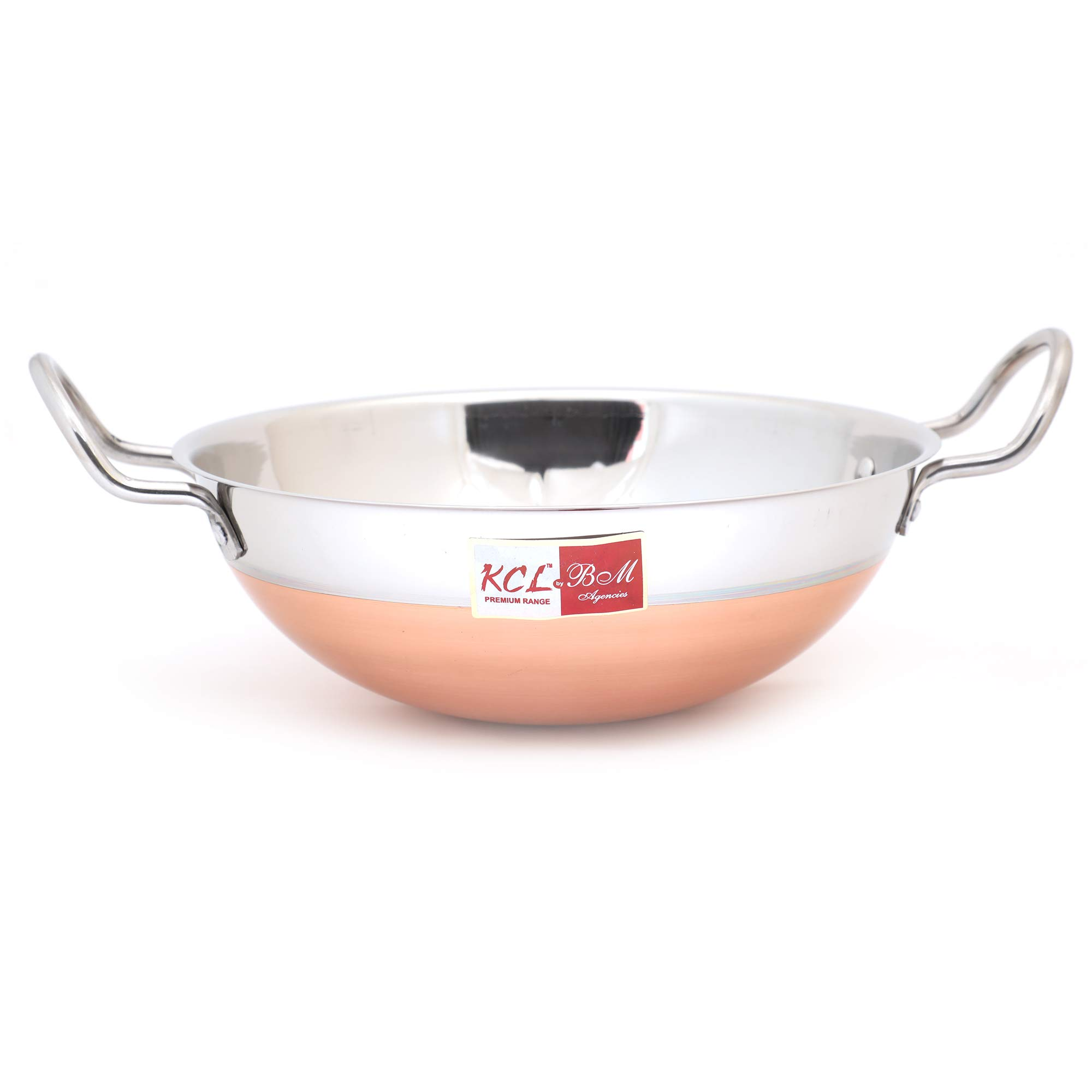 KCL Stainless Steel Copper Bottom Kadai Without Lid Cookware -1 Unit - Capacity - 1000ML,Diameter - 23 cm