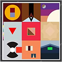 Rob'sTees Custom Minimal Album History Square Poster, Hypebeast Poster, Pop Culture Wall Decor Music Prints (Frame NOT Included) (12x12)