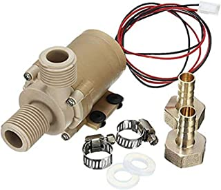 JapanAmStore Solar DC 24V Hot Heater Water Circulation Pump Brushless Water Pump Low Noise 3M 5M