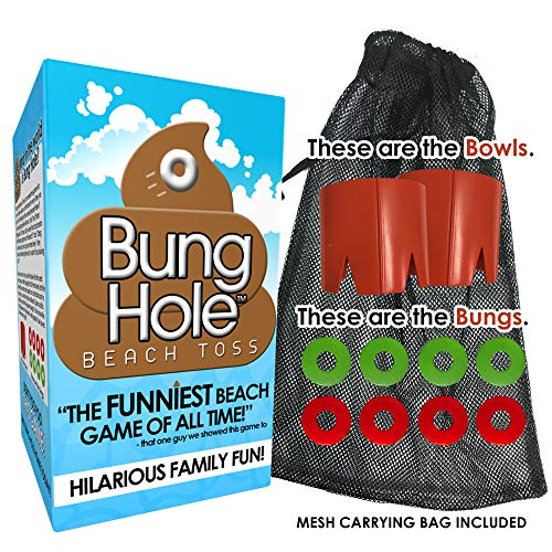 Bung Hole Toss - Cornhole for The Beach, Beach Game for Kids, Adults, Family, Outdoor Game, Backyard Game, Lake Game! Gag Gift Stocking Stuffer