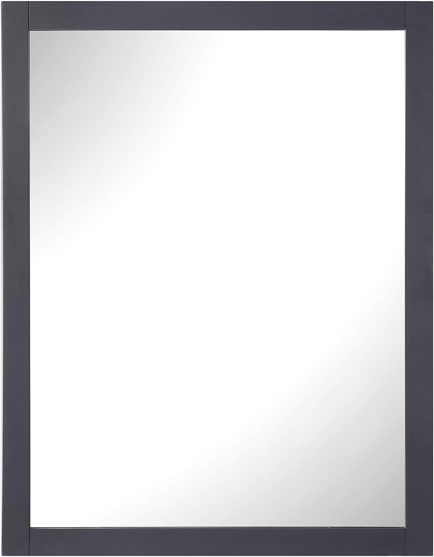 Ove Decors 新品 Maya 28 市販 x 36 mirror Charcoal in. Dark