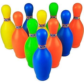 [バジンガ]BAZInGA 持ち運び ケース 付き ボーリング セット カラフル ピン ボウリング おもちゃ キッズ スポーツ 知育玩具 レクリエーション (19cm)