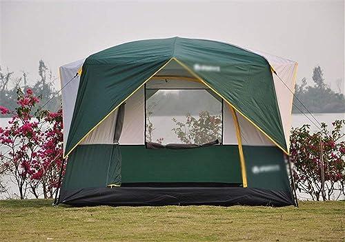 LEMONCOFFEE Tente De Plage Camping en Plein Air Tente 3-5 Personnes Ultra-léger Portable écran Solaire étanche Famille Amis Pêche Voyage Plage Pique-Nique Parc Pelouse Portable
