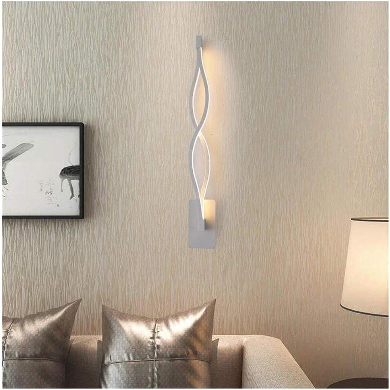 FUBON Wall lamp Wandleuchte Moderne Minimalistische Kreative Led Wandleuchte Wohnzimmer Korridor Gang Treppe Schlafzimmer Nachttischlampe (Farbe   Warm light-Weiß 47CM)