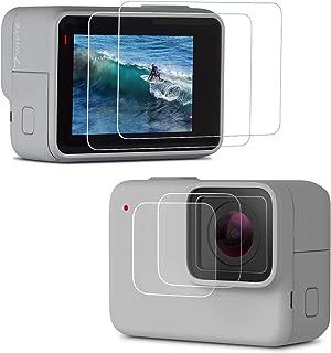 Rhodesy Protector de Pantalla para GoPro HERO7 Silver/White Vidrio Templado Película de Protección de Pantalla + Vidrio Templado Película Protectora de Lentes Accesorios para GoPro HERO7 [2PCS]