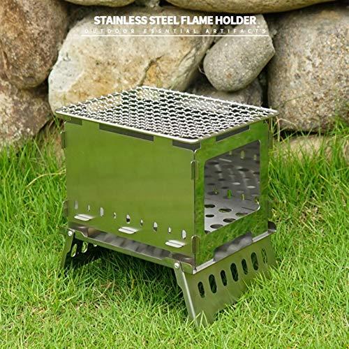 6193ixCc6 L - Lamyanran Picknickgrill Holzkohlegrill Grill Grillofen Edelstahl Tragbare BBQ Grill Rack Outdoor Camping Wandern Picknick Kochwerkzeug Grill Zubehör