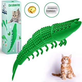 BringerPet Interactive Cat Chew Toy for Kitten - Best Cat Toothbrush – Refillable Catnip Toys for Cats – Durable Cat Toys with Catnip