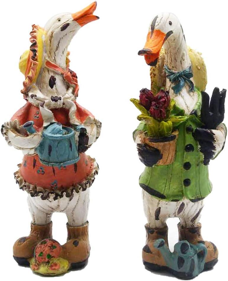 2 Piece Set Max 86% OFF Duck Resin Crafts latest Art Decoration Home Te Deco Garden