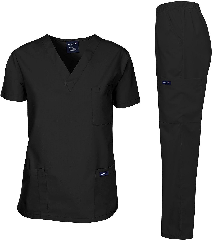 Dagacci Scrubs Medical Uniform Mens Scrub Set Medical Scrubs Top