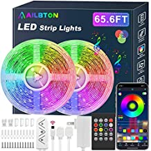 65.6ft/20M Led Strip Lights, Long Smart Music Sync 5050 RGB Color Changing Light Strip Bluetooth APP/IR Remote/Switch Box Control Rope Lights LED Lights for Bedroom,Party,Home Decoration,Festival