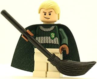 LEGO Harry Potter Minifig Draco Malfoy Dark Green and White Quidditch Uniform