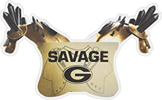 UGA Georgia Bulldogs Sticker - Savage Pads Football Photo Decal - 6