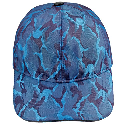 moonsix Unisex Baseball Cap,Adjustable Camouflage Tactical Outdoor Sun Cool Sport Hat,Blue