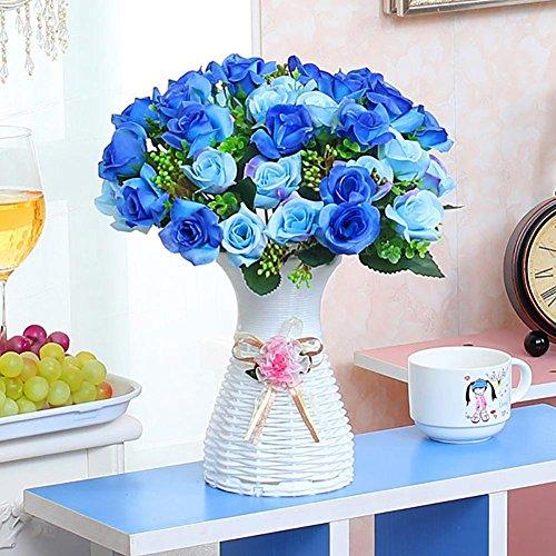 Fleurs Artificielles Fleur Plastique Fausse Fleur , Fleurs artificielles de Bouquets Fleur , Décoration pour Maison Mariage , Soie Bouquet Mariage pour fête de Jardin à la Maison Décor , #3