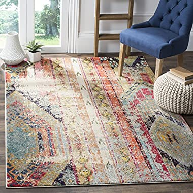 Safavieh Monaco Collection MNC222F Modern Bohemian Multicolored Distressed Area Rug (4' x 5'7 )