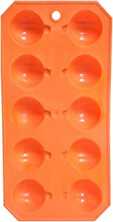 Orange Pumpkin Halloween Plastic Ice Cube Mold Tray