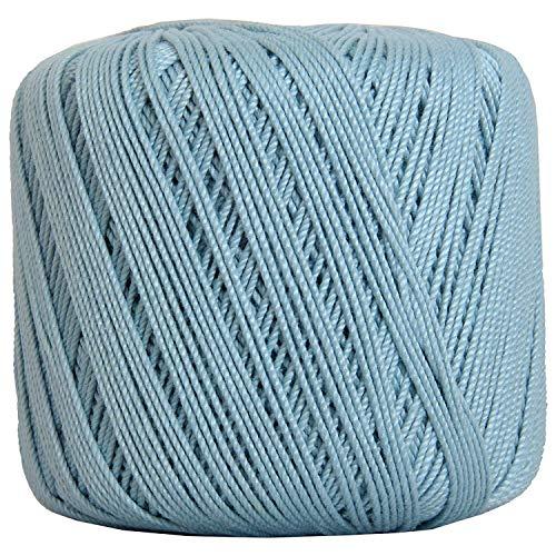 Threadart 100% Pure Cotton Crochet Thread - SIZE 3 - Color 19 - LT BLUE -2 sizes 27 colors available