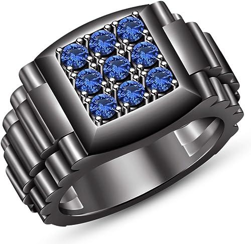 Vorra Fashion Echt 925 erling Silber Schwarzrhodiniert Herren Jewelry Verlobungsring Band Ring